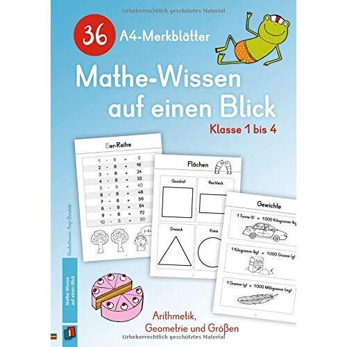 Redaktionsteam Verlag an der Ruhr - 36 A4-Merkblätter Mathe-Wissen auf einen Blick – Klasse 1 bis 4: Arithmetik, Geometrie und Größen - Preis vom 09.04.2021 04:50:04 h