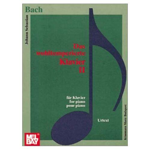 Bach, Johann Sebastian - Das wohltemperierte Klavier II. Noten für Klavier. Urtext ohne Fingersätze (Music Scores) - Preis vom 21.04.2021 04:48:01 h