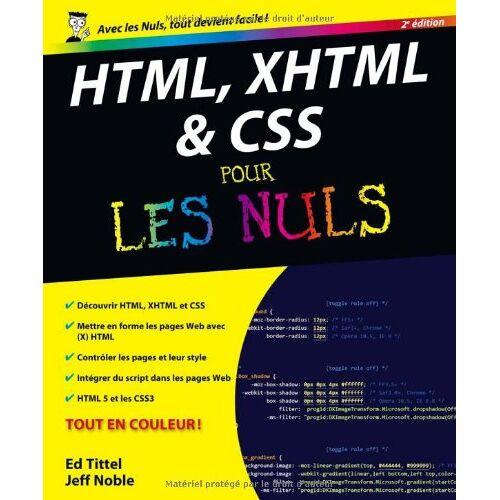 Ed Tittel - HTML, XHTML et CSS pour les nuls - Preis vom 22.02.2021 05:57:04 h
