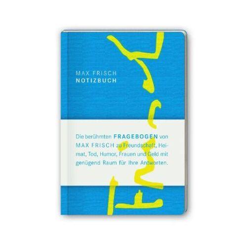 Max Frisch - Notizbuch mit den Fragebogen von Max Frisch (suhrkamp taschenbuch) - Preis vom 20.10.2020 04:55:35 h