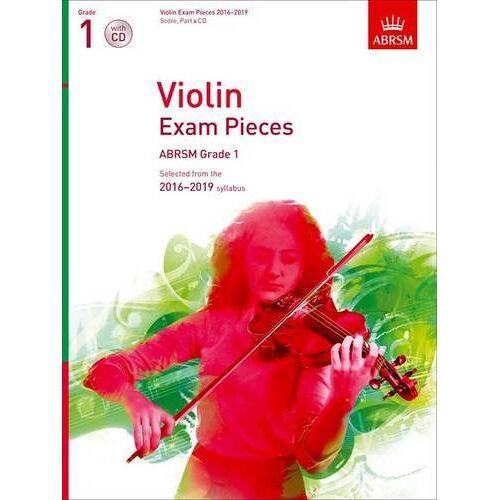 Associated Board of RSM - ABRSM Exam Pieces 2016-2019 Grade 1 Violin & Piano Book/CD - Preis vom 19.10.2020 04:51:53 h