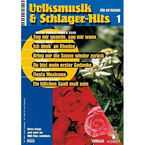 - Volksmusik & Schlager-Hits 1: für Keyboard. Band 1. Keyboard. (Music Factory) - Preis vom 18.04.2021 04:52:10 h