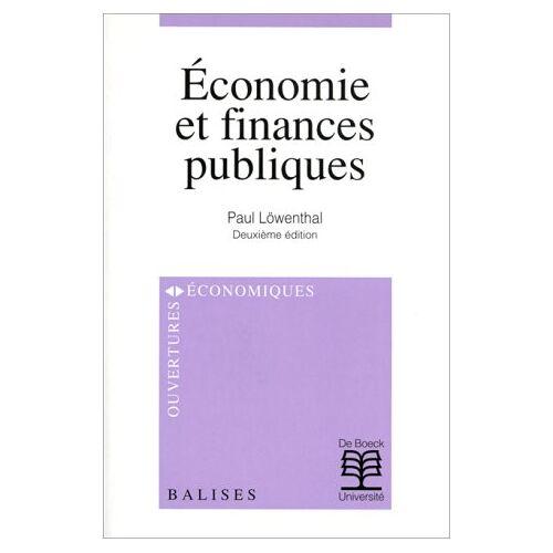 Lowenthal - Économie et finances publiques (Ouvert. Econom.) - Preis vom 21.10.2020 04:49:09 h