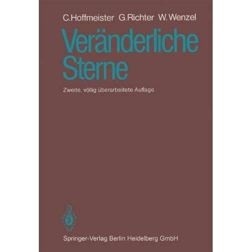 C. Hoffmeister - Veränderliche Sterne - Preis vom 11.05.2021 04:49:30 h