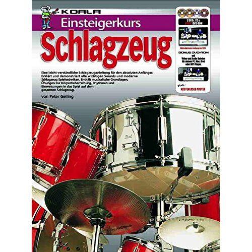 Peter Gelling - Einsteigerkurs Schlagzeug (Buch/CD/Doppel-DVD/Poster) - Preis vom 16.01.2021 06:04:45 h