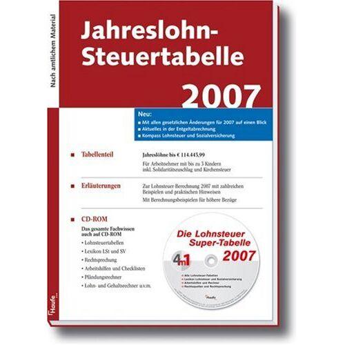 - Jahreslohn-Steuertabelle 2007 - Preis vom 12.05.2021 04:50:50 h