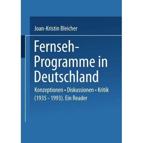 Bleicher, Joan Kristin - Fernseh-Programme in Deutschland - Preis vom 18.10.2020 04:52:00 h