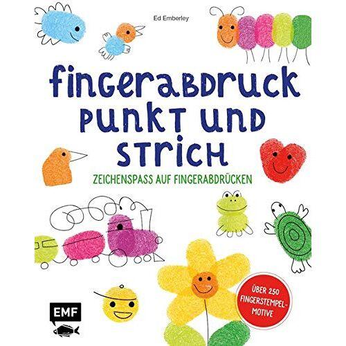 Ed Emberley - Fingerabdruck, Punkt und Strich – Zeichenspaß auf Fingerabdrücken: Schritt für Schritt zum fertigen Bild – Über 250 Fingerstempel-Motive - Preis vom 04.05.2021 04:55:49 h