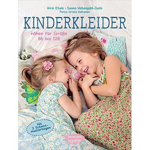 Kirsi Etula - Kinderkleider: nähen für Größe 86 bis 128. Mit 2 Schnittmusterbogen - Preis vom 28.02.2021 06:03:40 h