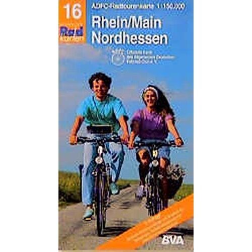 ADFC 16 RADTOURENKARTE - Radtourenkarten 1:150000 (ADFC): ADFC Radtourenkarten, Rhein/Main, Nordhessen - Preis vom 05.09.2020 04:49:05 h