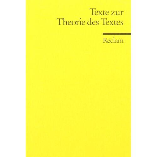 Roger Lüdeke - Texte zur Theorie des Textes - Preis vom 06.04.2020 04:59:29 h