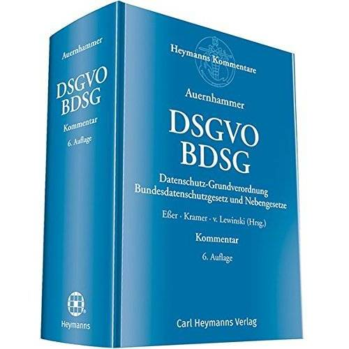 Eßer, Dr. Martin - DSGVO/ BDSG: Datenschutz-Grundverordnung/ Bundesdatenschutzgesetz und Nebengesetze - Preis vom 07.05.2021 04:52:30 h