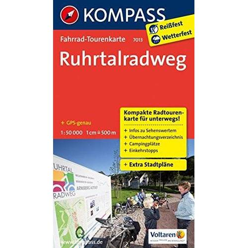 KOMPASS-Karten GmbH - Ruhrtalradweg: Fahrrad-Tourenkarte. GPS-genau. 1:50000. (KOMPASS-Fahrrad-Tourenkarten, Band 7013) - Preis vom 21.10.2020 04:49:09 h
