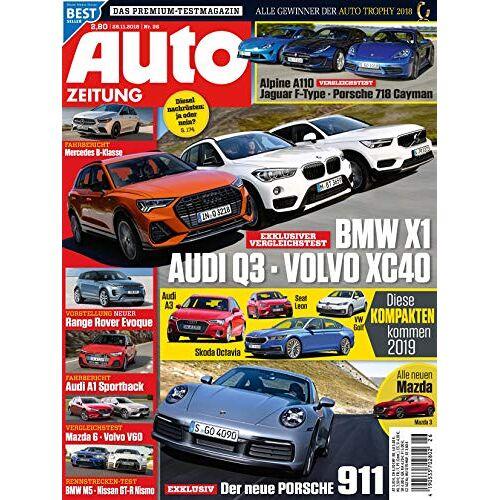 Auto Zeitung - Auto Zeitung 26/2018 BMW X1 - AUDI Q3 - VOLVO XC40 - Preis vom 08.05.2021 04:52:27 h