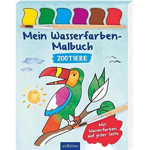 - Mein Wasserfarben-Malbuch Zootiere: Mit Wasserfarben auf jeder Seite - Preis vom 08.01.2021 05:58:58 h