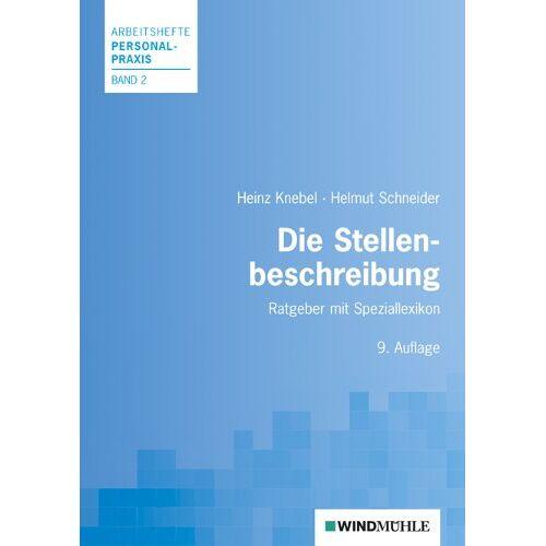 Heinz Knebel - Die Stellenbeschreibung: Mit Speziallexikon - Preis vom 18.04.2021 04:52:10 h