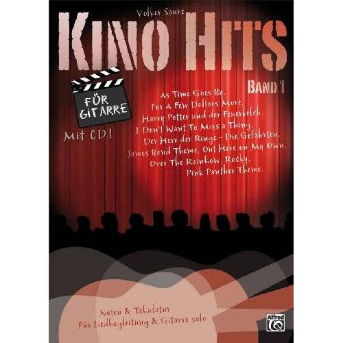 Volker Saure - Kino Hits für Gitarre Band 1: 10 Filmmusik-Klassiker für Gitarre solo und Liedbegleitung - Preis vom 21.10.2020 04:49:09 h