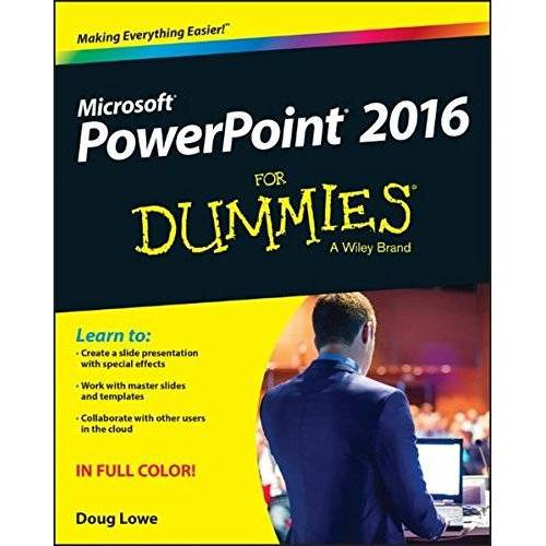 Doug Lowe - PowerPoint 2016 For Dummies (Powerpoint for Dummies) - Preis vom 14.01.2021 05:56:14 h