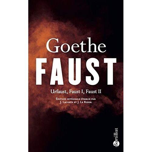 - Faust - Urfaust, Faust I, Faust II (Littérature) - Preis vom 21.10.2020 04:49:09 h