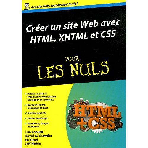 Lisa Lopuck - Créer un site web avec HTML, XHTML et CSS pour les Nuls - Preis vom 06.09.2020 04:54:28 h