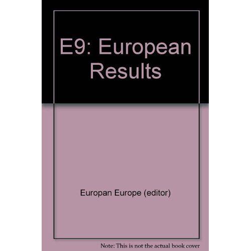 Europan Europe (editor) - E9: European Results - Preis vom 14.01.2021 05:56:14 h