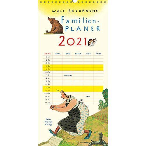 Wolf Erlbruch - Wolf Erlbruchs Familienplaner 2021 - Preis vom 08.05.2021 04:52:27 h