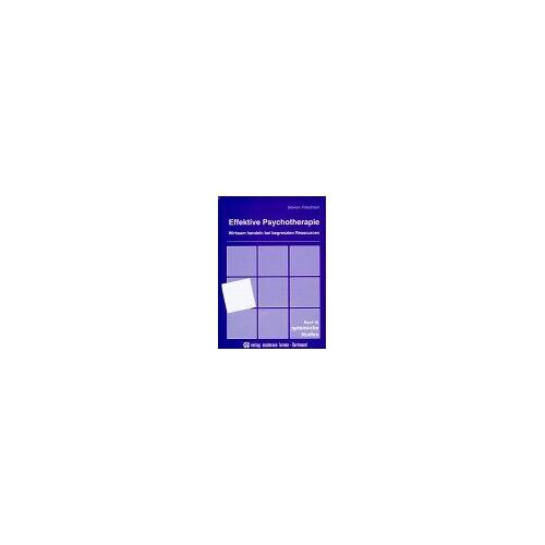 Steven Friedman - Effektive Psychotherapie: Wirksam handeln bei begrenzten Ressourcen - Preis vom 15.05.2021 04:43:31 h