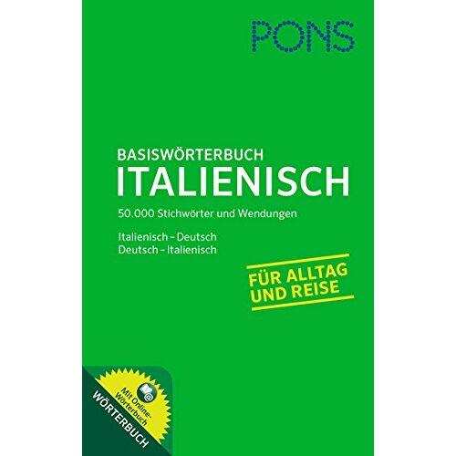 - PONS Basiswörterbuch Italienisch: Italienisch-Deutsch / Deutsch-Italienisch. Mit Online-Wörterbuch.: Mit Online-Wörterbuch. Italienisch-Deutsch / Deutsch-Italienisch - Preis vom 21.10.2020 04:49:09 h