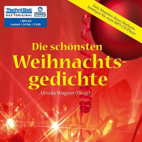 Ursula Wagner - Die schönsten Weihnachtsgedichte (1 MP3 CD) - Preis vom 18.10.2020 04:52:00 h