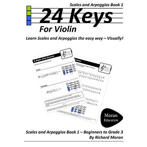 Richard Moran - 24 Keys Scales And Arpeggios For Violin - Book 1 - Preis vom 25.02.2021 06:08:03 h