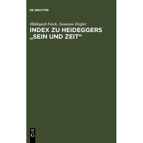 Martin Heidegger - Index zu Heideggers Sein und Zeit - Preis vom 20.10.2020 04:55:35 h