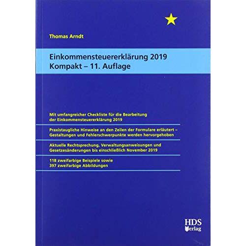 Thomas Arndt - Einkommensteuererklärung 2019 Kompakt - Preis vom 20.10.2020 04:55:35 h