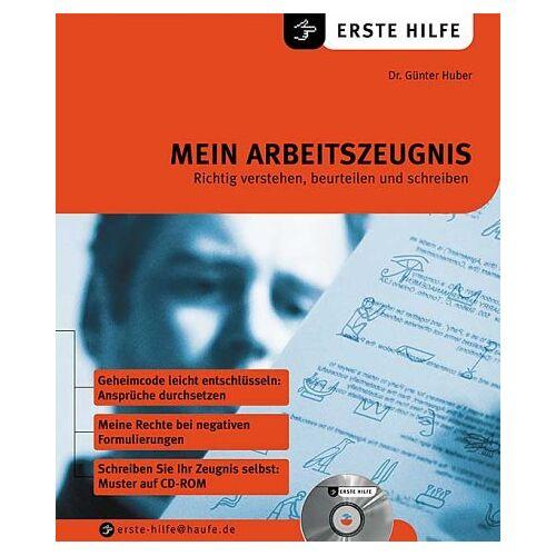 Günter Huber - Mein Arbeitszeugnis, m. CD-ROM - Preis vom 21.10.2020 04:49:09 h