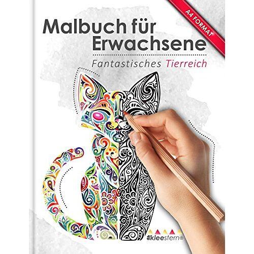 Kleestern Malbuch - Malbuch für Erwachsene: Fantastisches Tierreich (Kleestern®, A4 Format, 40+ Motive) (A4 Malbuch für Erwachsene) - Preis vom 17.07.2019 05:54:38 h