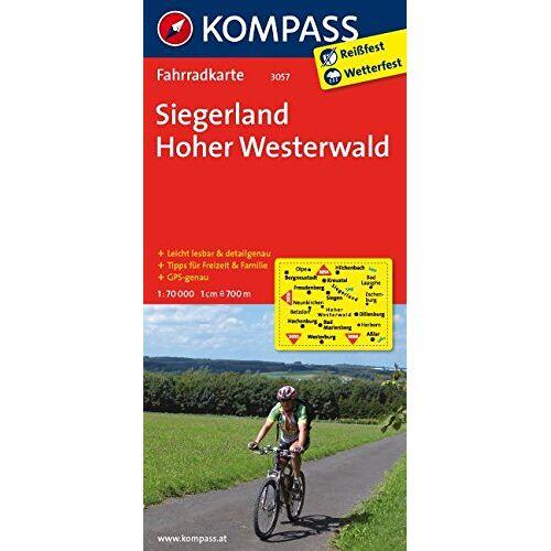 KOMPASS-Karten GmbH - Siegerland - Hoher Westerwald: Fahrradkarte. GPS-genau. 1:70000 (KOMPASS-Fahrradkarten Deutschland, Band 3057) - Preis vom 25.05.2020 05:02:06 h