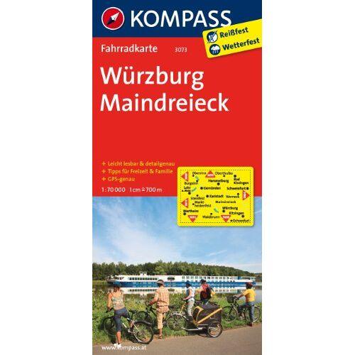 KOMPASS-Karten GmbH - Würzburg - Maindreieck: Fahrradkarte. GPS-genau. 1:70000 (KOMPASS-Fahrradkarten Deutschland) - Preis vom 25.05.2020 05:02:06 h