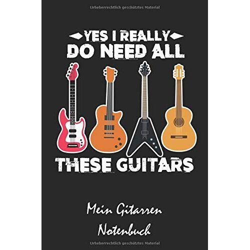 XASTY Notenbücher - Mein Gitarren Notenbuch: A5 Musikheft   Notenheft   Notenblock mit Notenlinien für Gitarristen, Musiker, Lehrer und Schüler und Studenten - Preis vom 08.04.2021 04:50:19 h