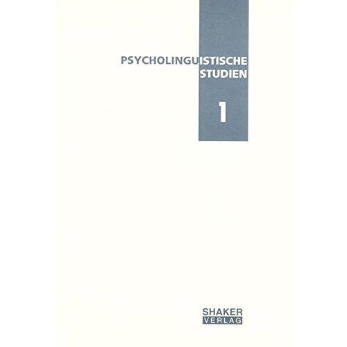 Anke Werani - Psycholinguistische Studien 1 - Preis vom 08.05.2021 04:52:27 h