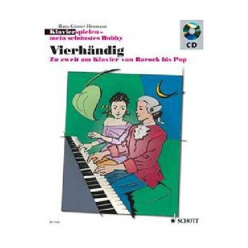 Hans-Günter Heumann - Vierhändig: Zu zweit am Klavier von Barock bis Pop. Klavier 4-händig. Ausgabe mit CD. (Klavierspielen - mein schönstes Hobby) - Preis vom 26.02.2021 06:01:53 h
