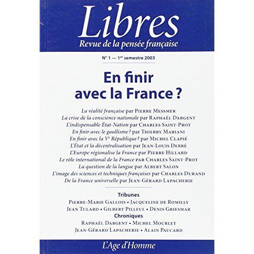 LIBRES 01 - EN FINIR AVEC LA FRANCE? (Libres) - Preis vom 05.05.2021 04:54:13 h