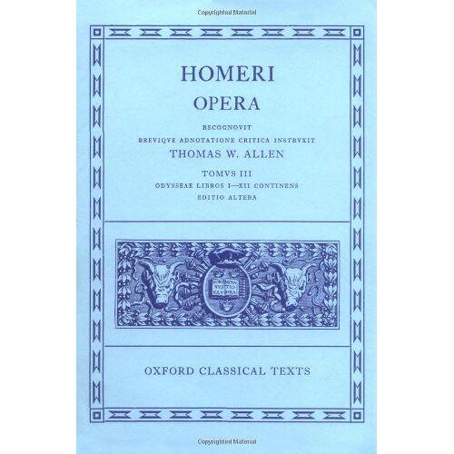 Monro, D. B. - Homer Opera Vol. III. Odyssey (Books I-XII): Odyssey Vol 3 (Odyssey, I-XII) - Preis vom 17.04.2021 04:51:59 h