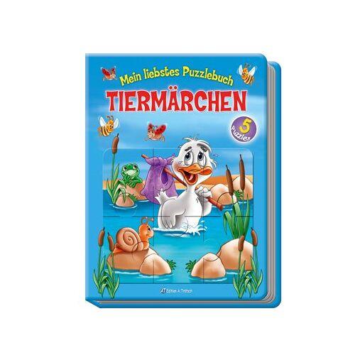 Edition A. Trötsch - Mein liebstes Puzzlebuch Tiermärchen: 5 bekannte Tiermärchen mit dazugehörigen 24-teiligen Puzzles in einem Buch! - Preis vom 28.02.2021 06:03:40 h
