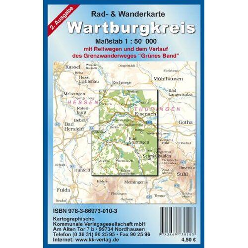 - Wartburgkreis: Rad- und Wanderkarte Maßstab 1:50 000 - Preis vom 16.05.2021 04:43:40 h