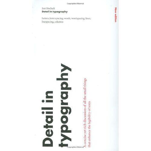 Jost Hochuli - Detail In Typography - Preis vom 09.05.2021 04:52:39 h