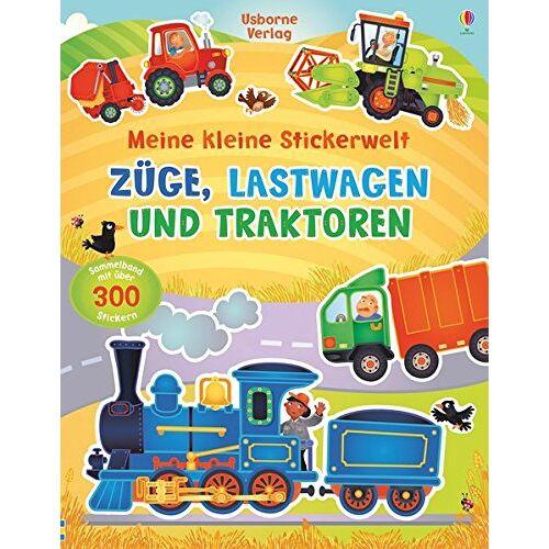 Felicity Brooks - Meine kleine Stickerwelt: Züge, Lastwagen und Traktoren - Preis vom 17.04.2021 04:51:59 h
