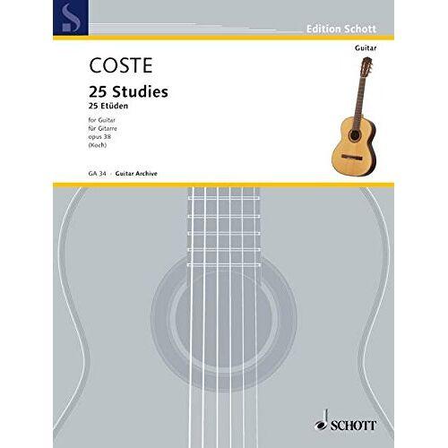 - 25 Etüden: op. 38. Gitarre. (Edition Schott) - Preis vom 21.01.2021 06:07:38 h