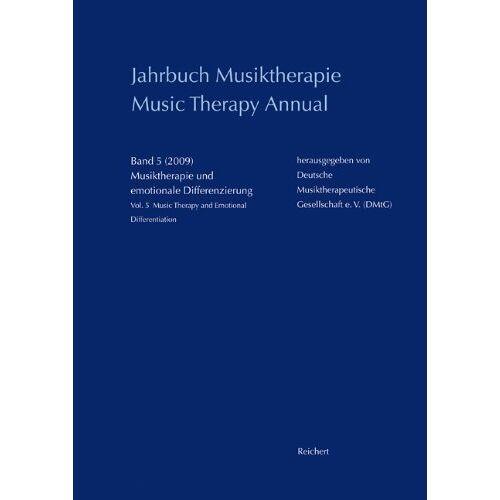 - Jahrbuch Musiktherapie - Music Therapy Annual, Bd.5 : Musiktherapie und emotionale Differenzierung (Zeitpunkt Musik) - Preis vom 26.02.2021 06:01:53 h