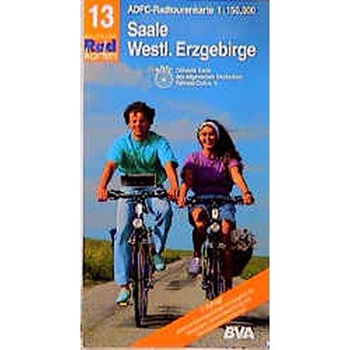 Adfc, 13 RADTOURENKARTE - Radtourenkarten 1:150000 (ADFC): ADFC Radtourenkarten, Saale, Westliches Erzgebirge - Preis vom 15.04.2021 04:51:42 h