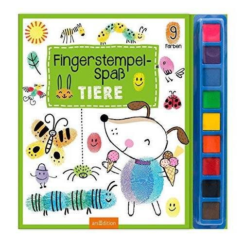 - Fingerstempel-Spaß Tiere: mit 9 Stempelfarben - Preis vom 30.03.2020 04:52:37 h
