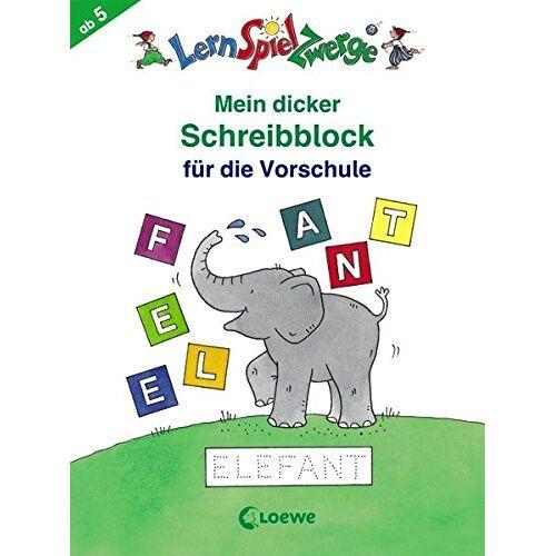 - Mein dicker Schreibblock für die Vorschule (LernSpielZwerge - Sammelblock) - Preis vom 11.05.2021 04:49:30 h